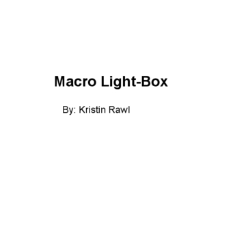 Macro Light-Box