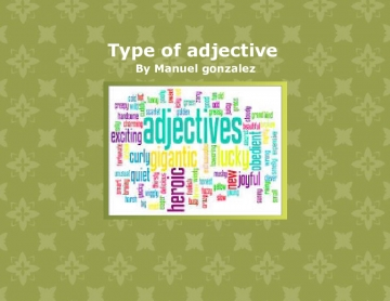 Type of adjective