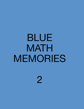 BLUE MATH MEMORIES