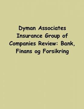 Dyman Associates Insurance Group of Companies Review: Bank, Finans og Forsikring