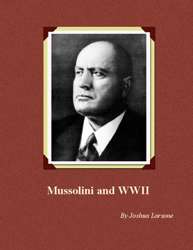 Mussolini and WWII