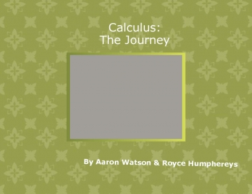 Calculus: The Journey