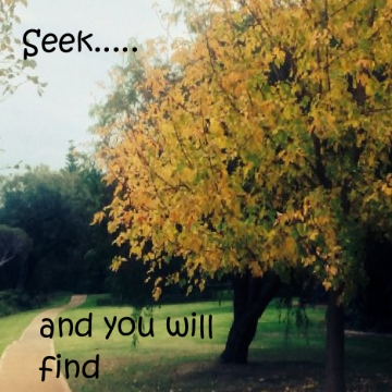 Seek... and you will find.