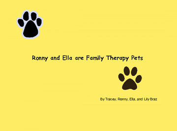 Ronny and Ella are therapy pets