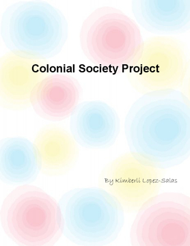 Colonial Society Project