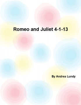 Romeo and Juliet 4-1-13