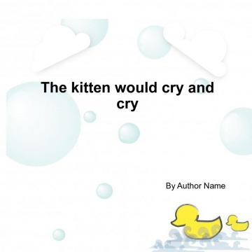 The crying kitten