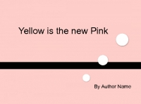 yellow is the new pink