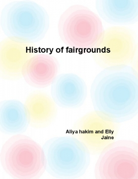 The history of fairground
