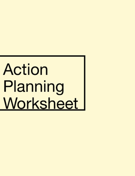 Action Planning Worksheet Presentation