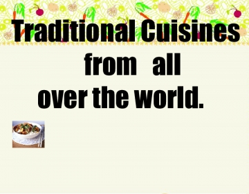 Traditional everyday cuisines