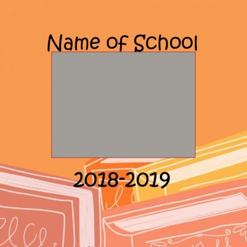 8.5 x 8.5 Yearbook Template