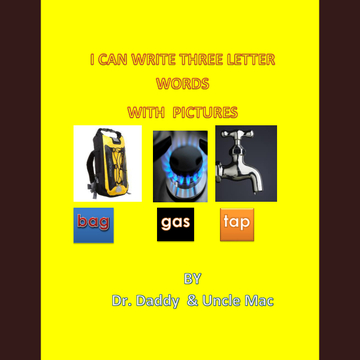 THREE LETTER WORDS WRITING BOOKS FOR KG-1