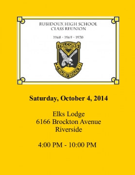 Rubidoux Reunion October 2014