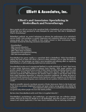 Elliott's and Associates: Specializing in Biofeedback and Neurotherapy