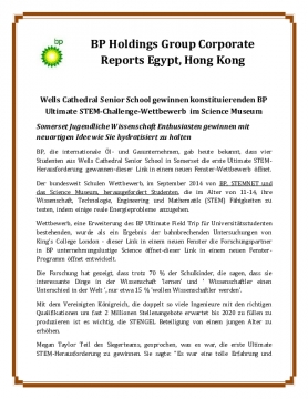 BP Holdings Group Corporate Reports Egypt, Hong Kong
