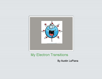 My Electron Transitions
