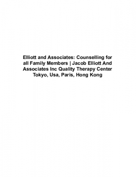 Elliott and Associates: Counselling for all Family Members