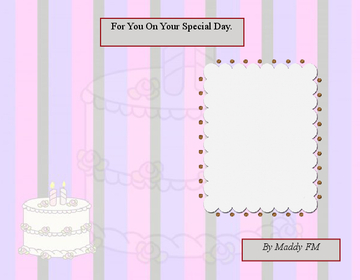 For You On Your Special Day