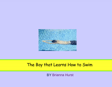 A boy that learns How to swim