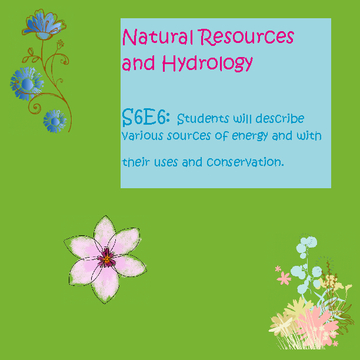 Natural Resources and Hydrology