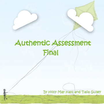Authentic Assessment Final