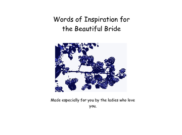 A Book for the Beautiful Bride