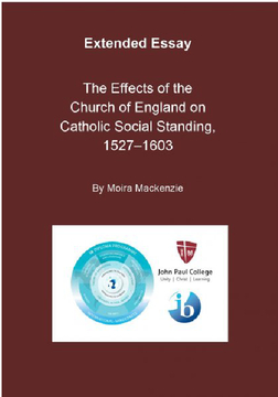 The Effects of the Church of England on Catholic Social Standing, 1527-1603