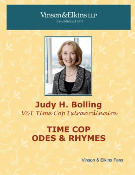 Judy Bolling - Time Cop Extraordinaire