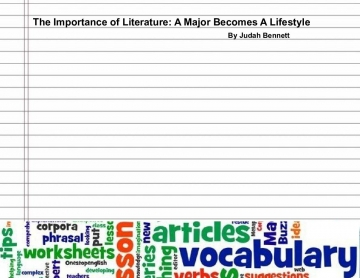 The Importance of Literature: A Major Becomes A Lifestyle