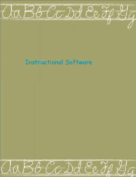 Instructional Software