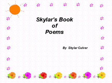 Sklar's Book of Poems