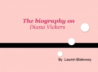a biography on diana vickers