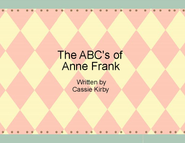 The ABC's of Anne Frank