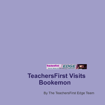 TeachersfIrst Reviews Bookemon