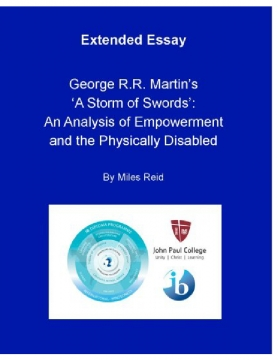 To what extent does George R.R. Martin seek to empower the physically disabled in 'A Storm of Swords'?