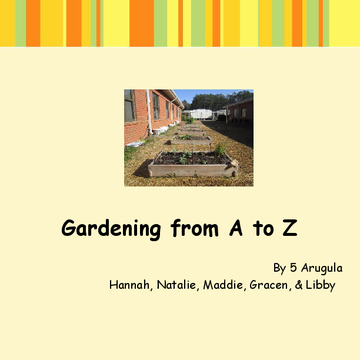 Gardening from A to Z