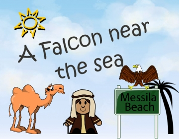 A Falcon near the sea