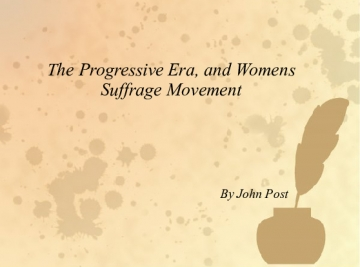 Woman's Suffrage Movevment