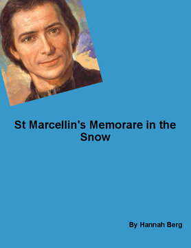 St Marcellin's  Memorare in the snow