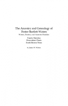 Genealogy of Foster B. Waters