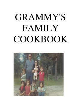 Grammy's Family Cookbook