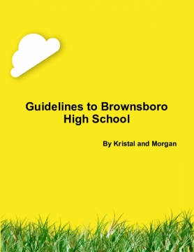Guidelines to Brownsboro High School
