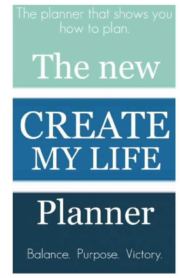 The new create my life planner the planner that shows for Plan books