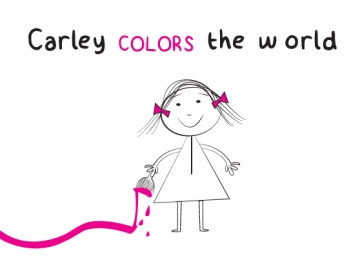 Carley colors the world