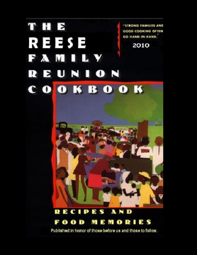 REESE FAMILY REUNIION COOKBOOK