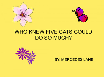 WHO KNEW FIVE CATS CAN DO SO MUCH?