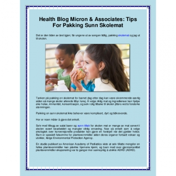 Health Blog Micron & Associates: Tips for Pakking Sunn Skolemat