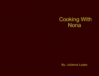 Cooking With Nona