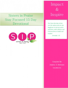 Stay Focused 15 Day Devotional